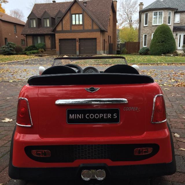 Mini Cooper Battery Ed Kids Car 2 Seater
