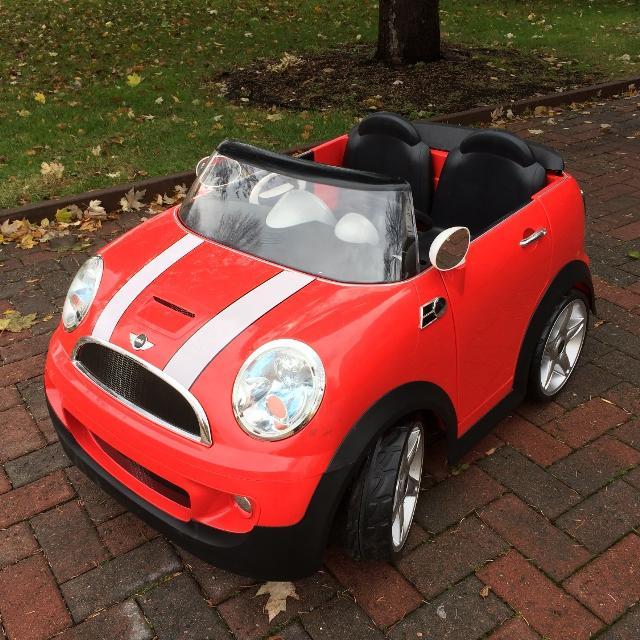 mini cooper battery powered kids car 2 seater