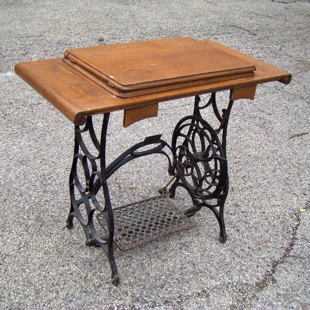 Find More Antique Cast Iron Treadle Sewing Machine Base Top Simple Pedal Sewing Machine Table