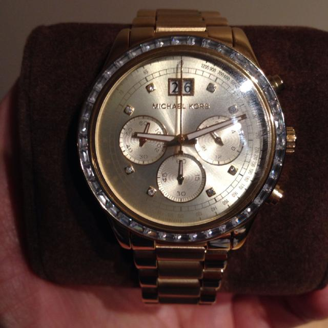 5580850cb30f Best Bran New Micheal Knors Gold Watch In Original Box. Still Has The  Plastic On Never Been Used. Retails For 360 Plus Tax Selling For 200  for  sale in ...
