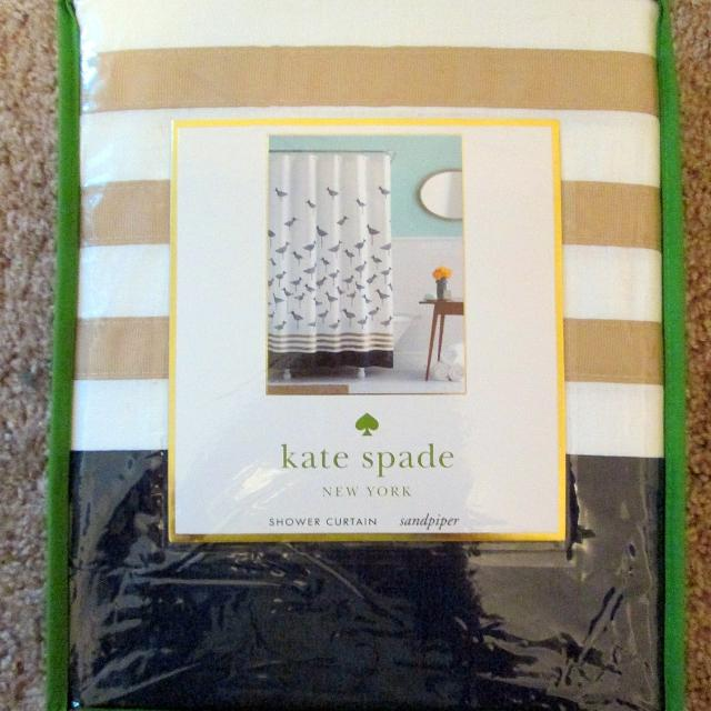 Best Kate Spade New Sandpiper Nautical Navy Blue White Beige Bird Shower Curtain For Sale In Champaign Illinois 2019