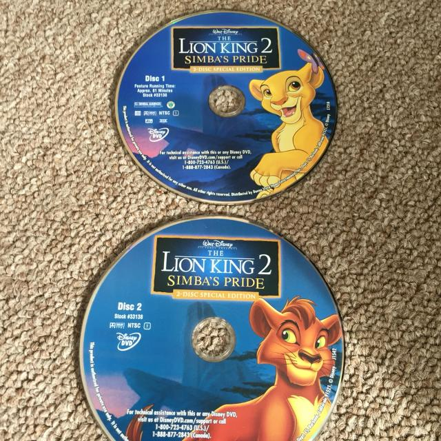 Find More Lion King 2 Simba S Pride Dvd For Sale At Up To 90 Off
