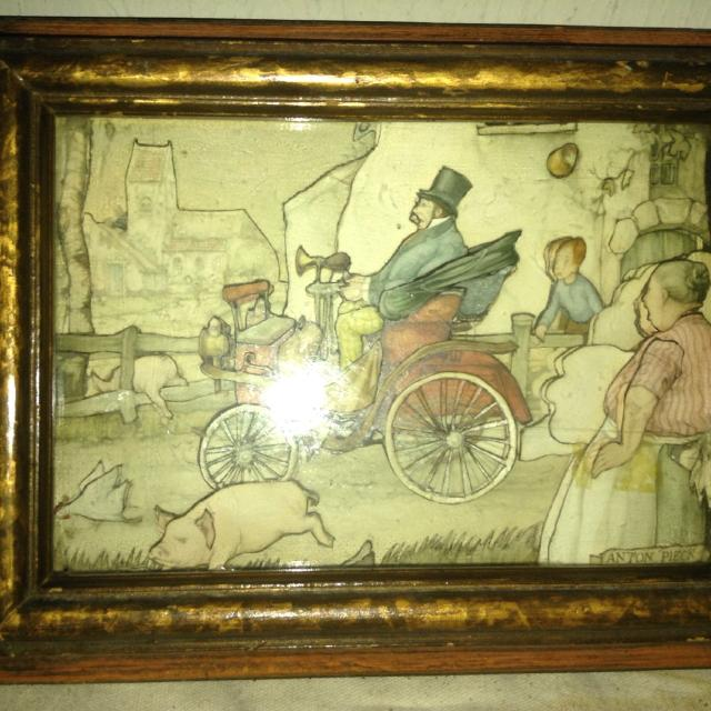 Best Wall Art Vintage Shadow Box By Anton Pieck 9\