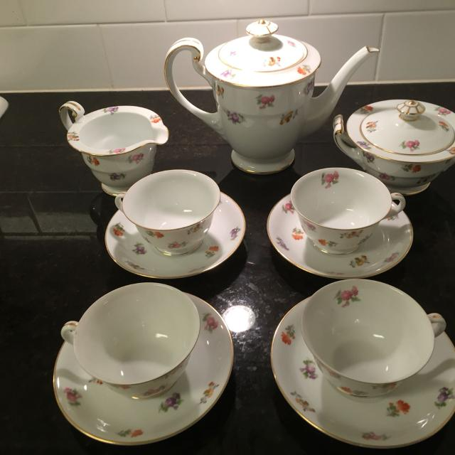 Authentic Rose China tea set!! 70 years old!! Made in occupied Japan
