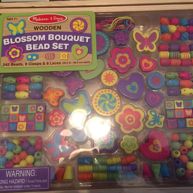 2a94b0ec609a Find more Melissa And Doug Wooden Blossom Bouquet Bead Set for sale ...