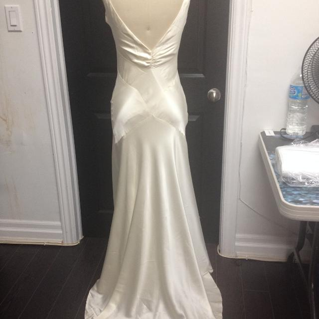 Best Bias Cut Silk Wedding Dress for sale in Brockton Village ...