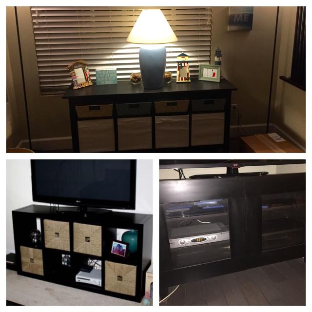 Find More Ikea Hemnes Sofa Table W 8 Storage Baskets 8 Cube Kallax