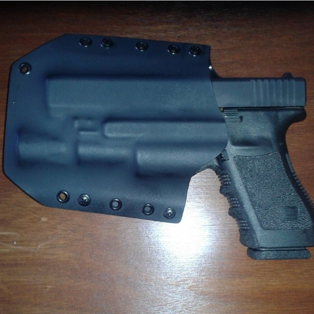 BRAVO CONCEALMENT kydex holster for Glock 20/21 with Surefire X300 Ultra  attached  OWB carry 1 5 inch belt loops left hand carry