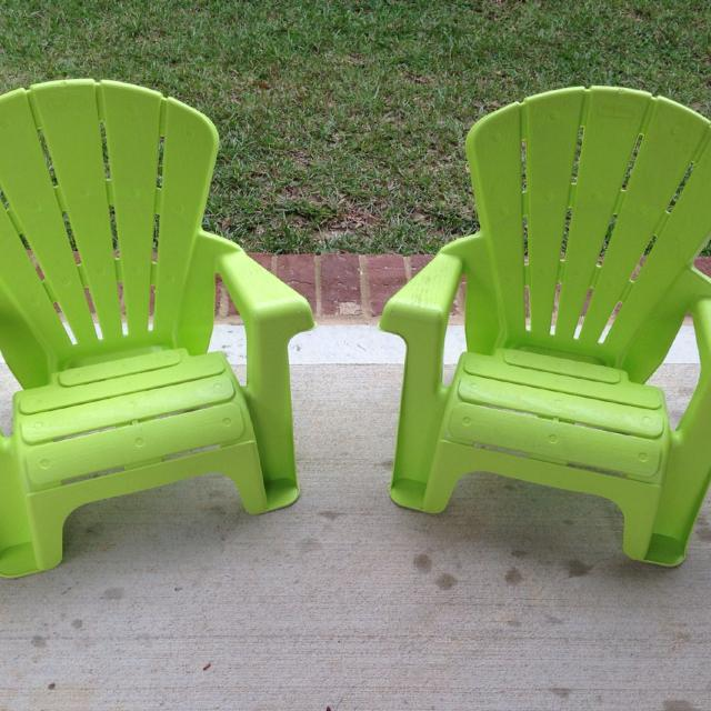 Little Tikes Lime Green Lawn Chairs