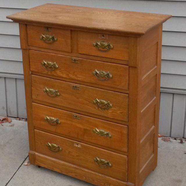 Find More Vintage Highboy Oak Dresser Price Drop For Sale At Up To