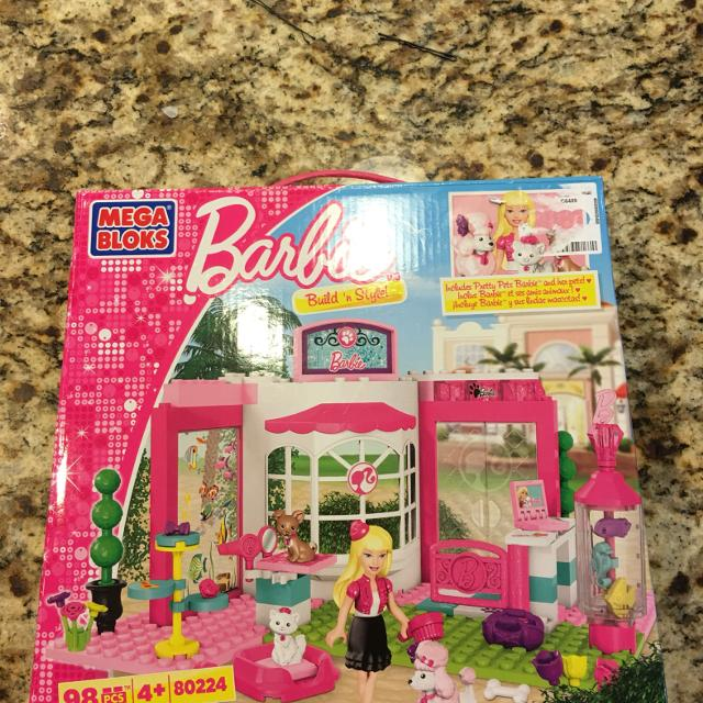 Lego sized Mega Blocks, Barbie set