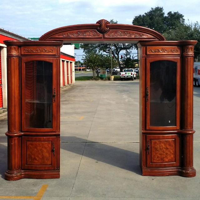 Find More Large Wall Unit Entertainment Center Wlighted Canopy