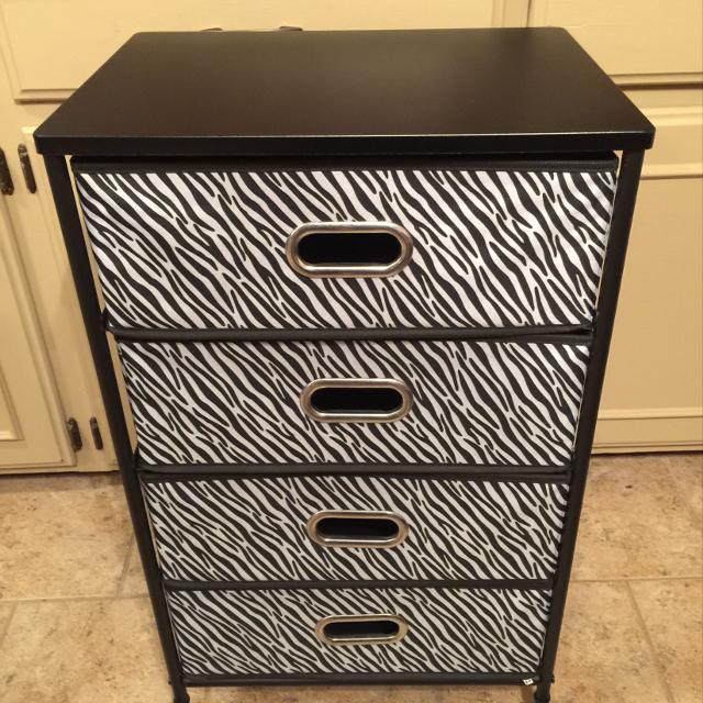 8badfafafd Find more Zebra Print •rolling• 4 Drawer Cart for sale at up to 90% off