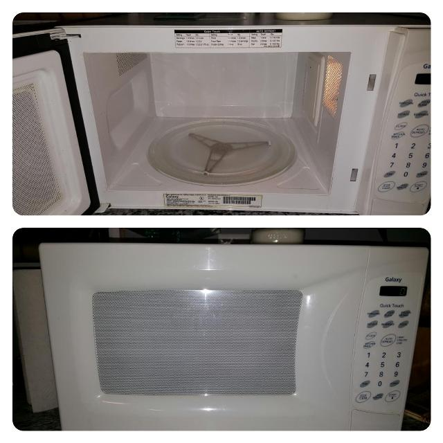 White Galaxy Microwave From Sears