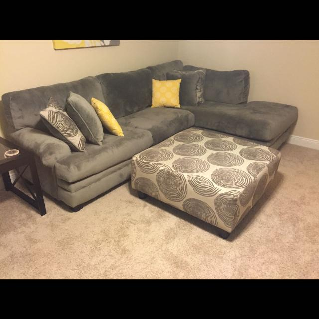 Find More Gray Sectional With Ottoman Like New 6 Months Old
