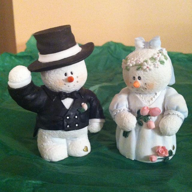Best Mr And Mrs Snowman--can Be Used As Wedding Cake Toppers ...