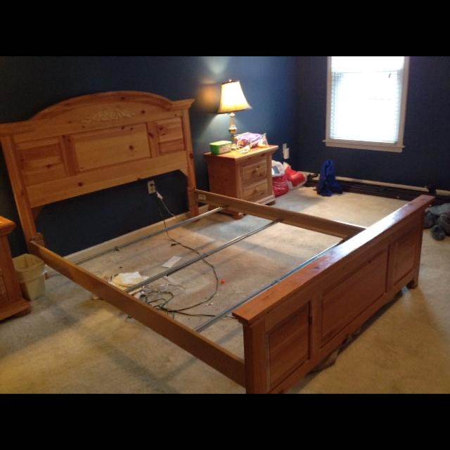 Find more Euc Solid Wood 'broyhill' Queen Bed. Headboard