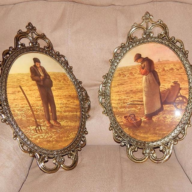 Find More Pair Of Vintage Antique Metal Framed Convex Bubble Glass