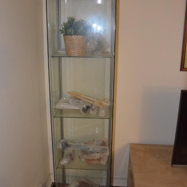 Find More Ikea Detolf Glass Door Cabinet For Sale At Up To 90 Off