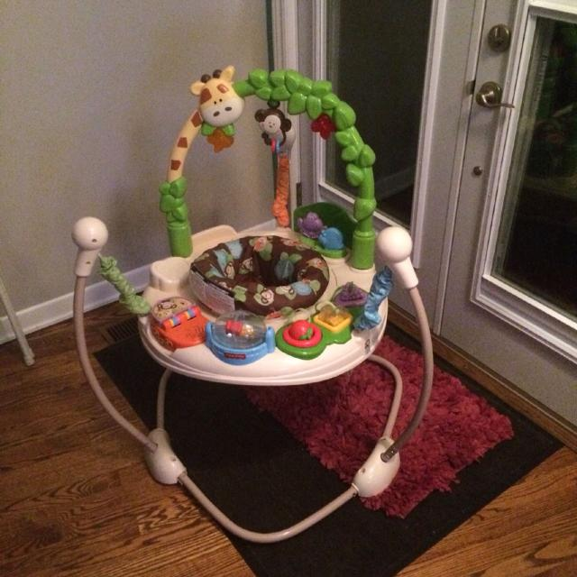 fc9acaf91e9 Fisher-Price Go Wild Jumperoo Baby Bouncer