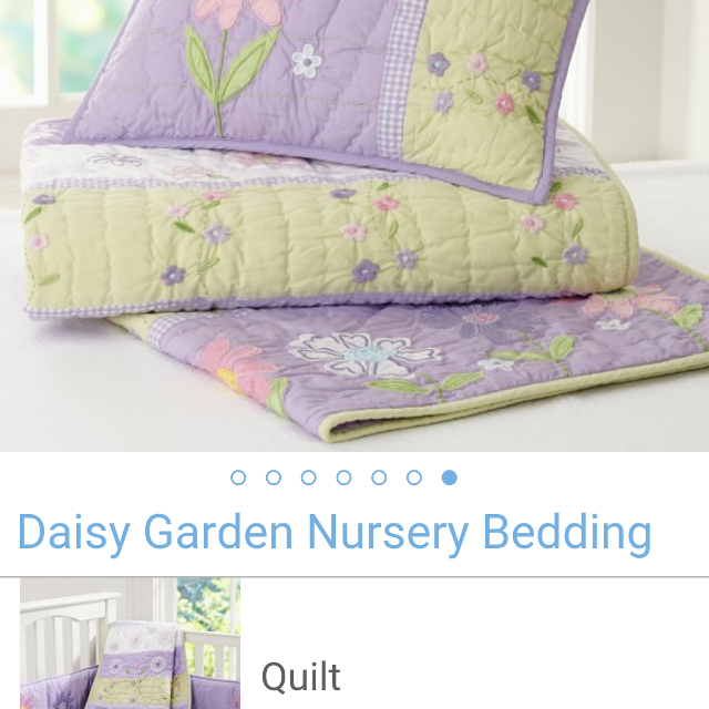 Pottery Barn Kids Daisy Garden Nursery Toddler Bedding
