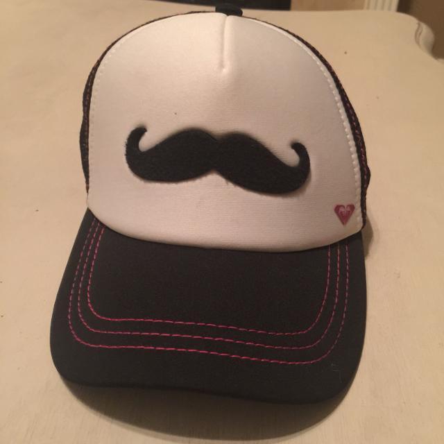 Best Roxy Mustache Trucker Hat. Hot Pink black white. Ppu Alvin Or ... 288dfa8ea6ba
