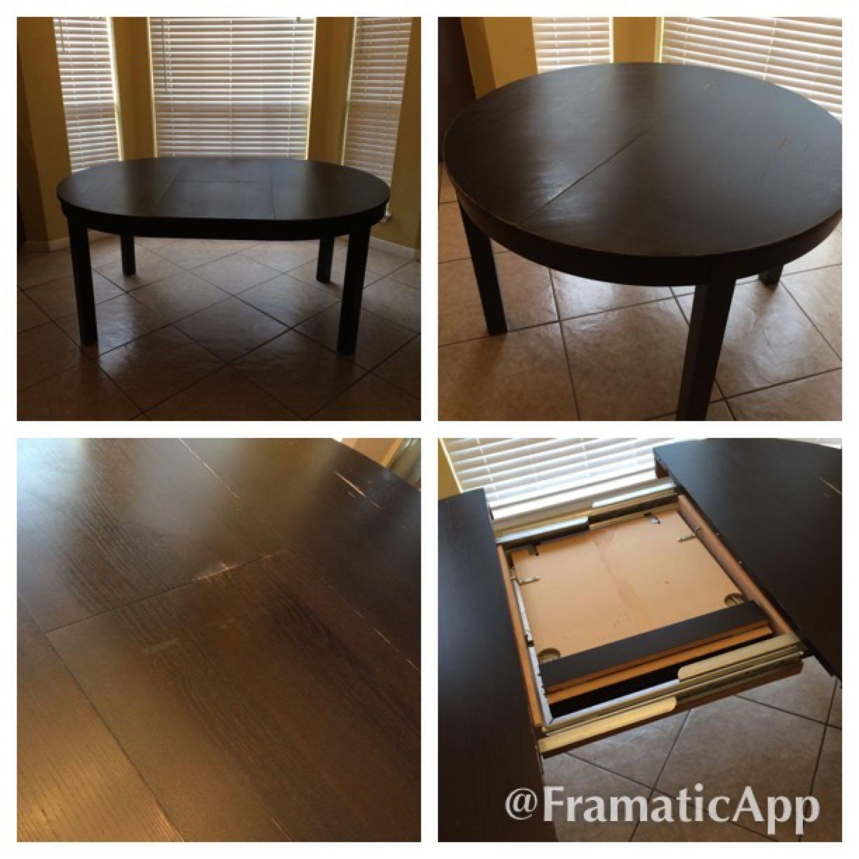 Find More Ikea Bjursta Extendable Round Dining Table For Sale At Up To 90 Off