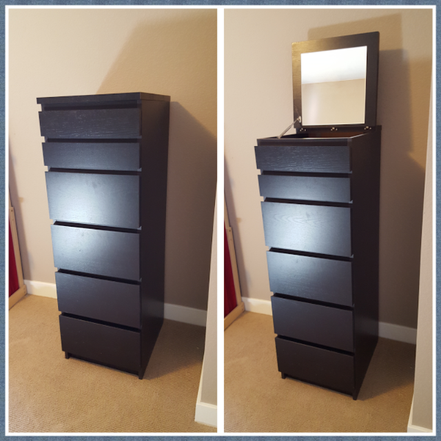 6 Drawer Malm Chest With Mirror Black Brown