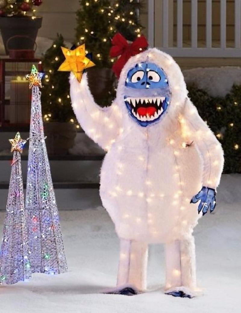 Find more life size 5 ft bumble abominable snowman lighted for Abominable snowman christmas light decoration