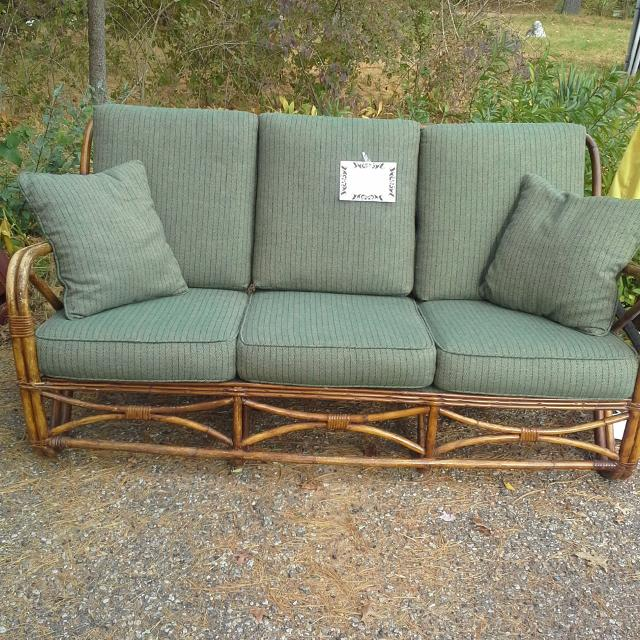 Antique 1940 S Rattan Sofa And Chairs