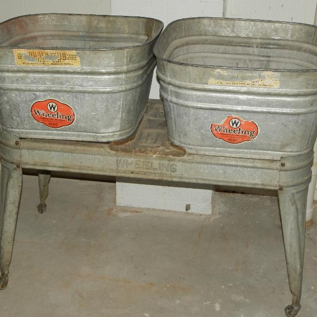and stand wash tubs tub lot bros beatty