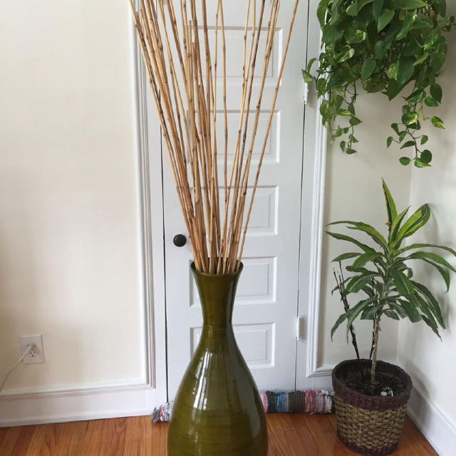 Vase Bamboo Sticks Easy Home Decorating Ideas