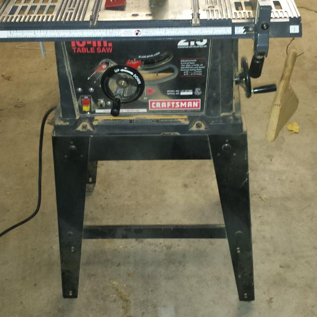 Find more craftsman 2 5 hp 10 inch table saw with stand for 10 inch table saw craftsman