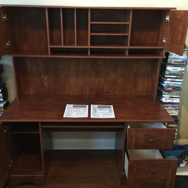 desks hutch with office desk u l depot shaped