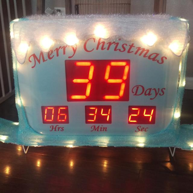 lighted christmas countdown clock