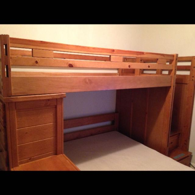 Best Creekside Taffy Twin Full Step Bunk Bed With Chest For Sale In