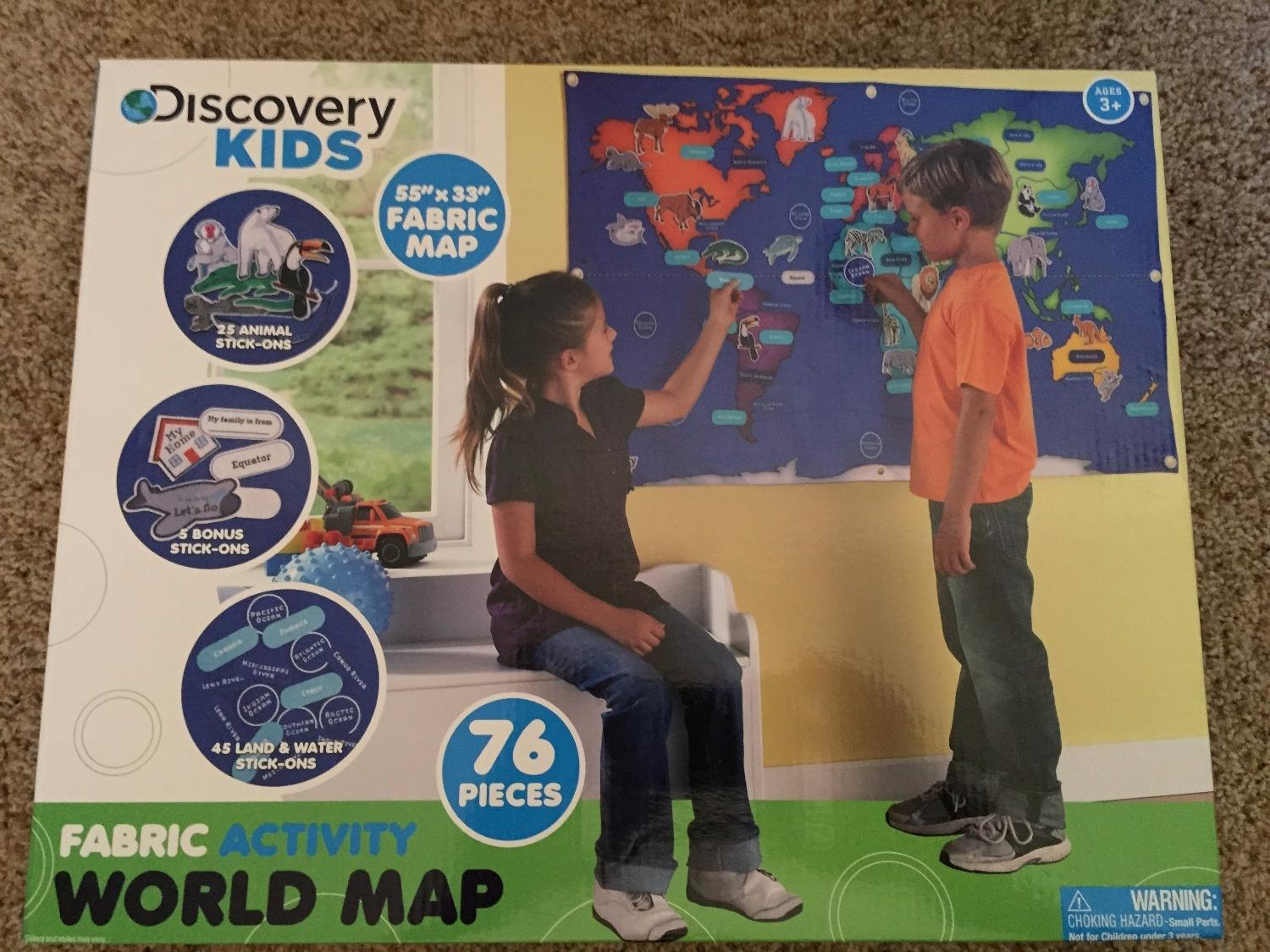 Find more new discovery kids fabric activity world map new for find more new discovery kids fabric activity world map new for sale at up to 90 off gumiabroncs Image collections