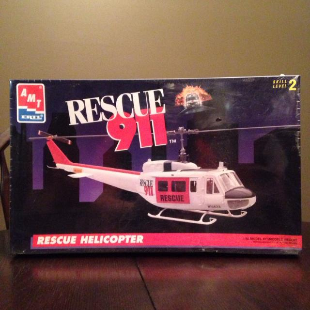 RESCUE 911 Helicopter Model Kit