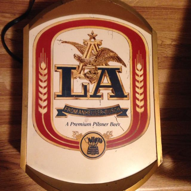 Find more vintage bar light 1984 la anheuser busch a premium vintage bar light 1984 la anheuser busch a premium pilsner beer aloadofball Image collections