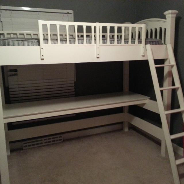 Find more bombay kids solid white wood loft bed with desk for 3 bed bunk beds for sale