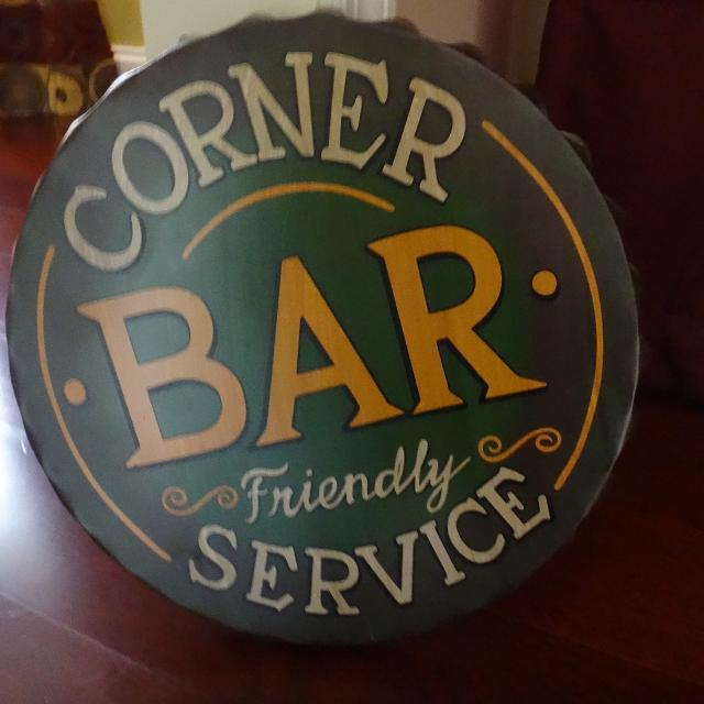 Metal Corner Bar For Man Cave Or Sign
