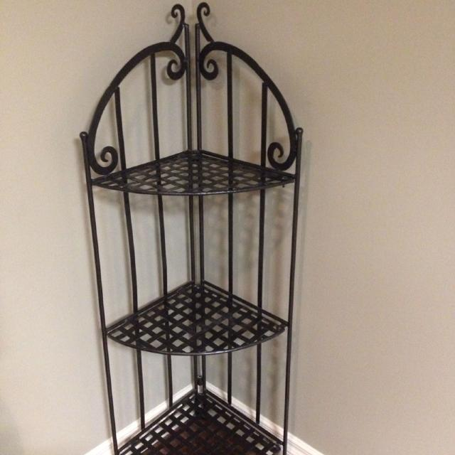 Black Wrought Iron Corner Stand 50 Tall 19 Wide From The Front