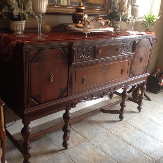 antique sideboard for sale Find more Antique Sideboard  solid Wood With Caster Wheels $200  antique sideboard for sale
