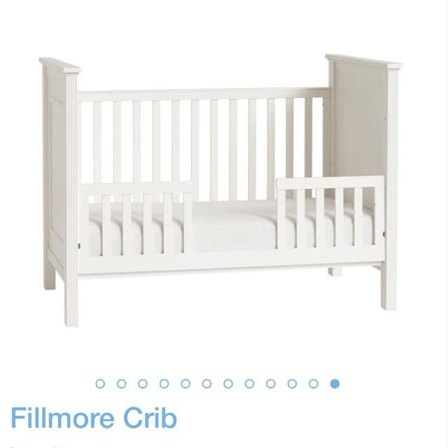 Pottery Barn Fillmore Crib And Toddler Conversion Kit EUC GUC