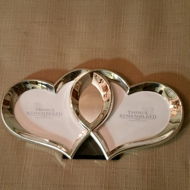 Find more Things Remembered Double Heart Silver Frame, No Glass ...