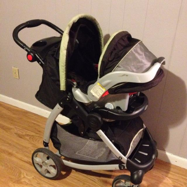 Black Grey Green Graco Stroller Matching Infant Car Seat And Base