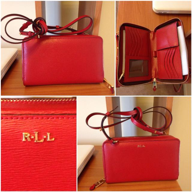 97223fc4a798 Find more New Authentic Lauren Ralph Lauren Tate Leather Tech ...