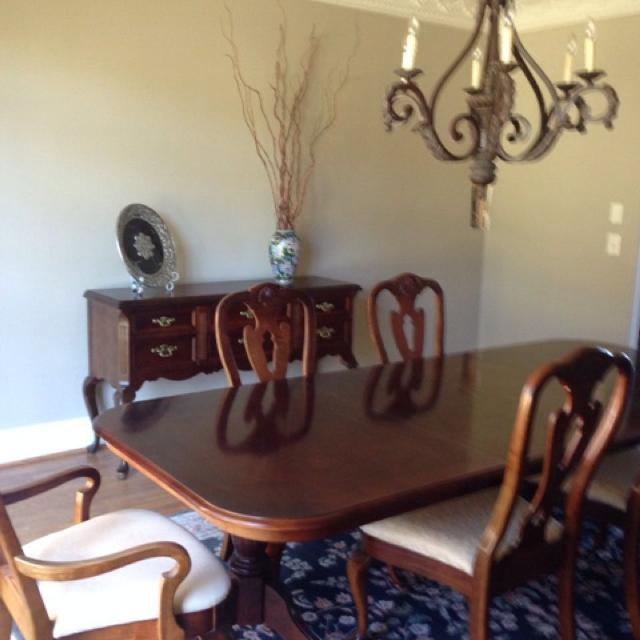 Bassett Eden House II Dining Room Chairs 2 Queen Anne Arm And 4 Side