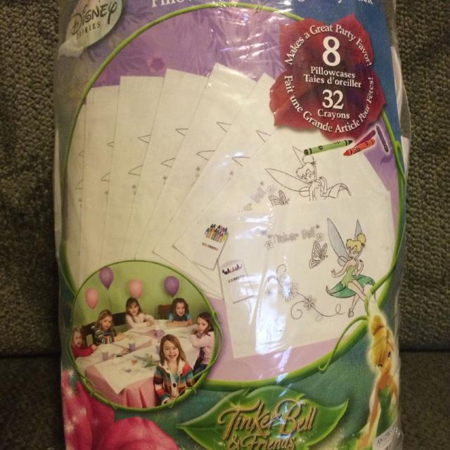 Find more Tinkerbell Pillowcase Coloring Party Pack New In Pkg - 8 ...