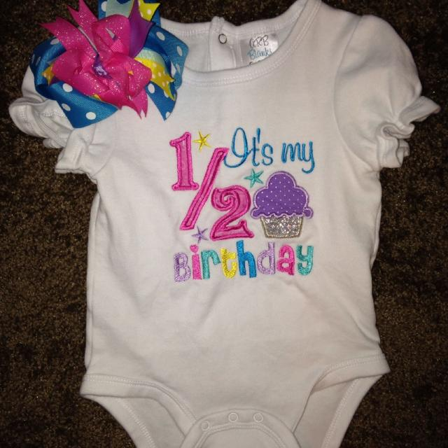 Best 6 12 Monthsits My 1 2 Birthday Shirt And Bow For Sale In Hendersonville Tennessee 2019